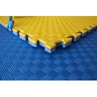 Buy cheap 100% EVA High Density Taekwondo mat 1*1m with 25mm Red and Blue reversible mat from wholesalers