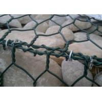 1 x 1 x 1m Heavy Zinc / Gray  Coated  Woven Gabion Box  with 4 . 0 Wire Daimeter
