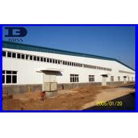 Durable Corrugated Long Span Steel Structure / Painted Workshop Framework Manufactures