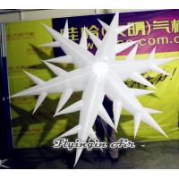 China Customized Inflatable Snow flower, Inflatable Snowflakes for Christmas Party Decoration wholesale
