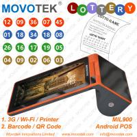 Buy cheap Movotek 3G Android POS Terminal with WiFi for Sports Betting, Lotto Games from wholesalers