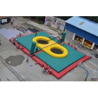 China Fireproof PVC Tarpaulin Inflatable Volleyball Court Customized Size 18*14.5m on sale