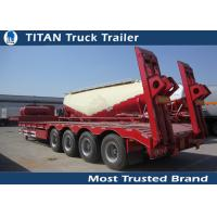 Customized 4 axle 5 axle 6 axle low bed trailer with mechanical suspension