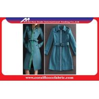 Light Blue Fashion Long Trench Jacket Overcoat Smart Casual Clothing for Lady Manufactures