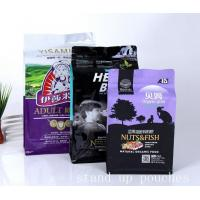 Pet dog food Stand Up Zipper bags , black stand up plastic pouches custom printed Manufactures