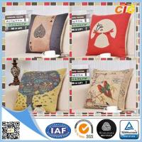 China Washable Printed Decorative Soft Pillow Sofa Seat Cushions With Filling wholesale