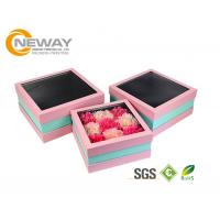 China Flower Gift Box Off - White Splendid Retail Gift Flower Paper Box With Clear Window on sale