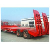 2 Axles Low Flatbed Semi Trailer Lowbed Truck Trailer Type 30 to 60 Tons Capacity Manufactures