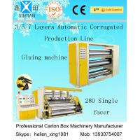 CE Corrugated Paper Carton Making Machine A B Flute Profiles 50Hz 380V  Three Phase Manufactures