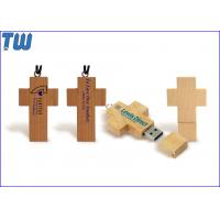 Personal Key Chain Cross 64GB USB Disk Stick Natural Maple Wood Manufactures