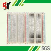 Bigger Soldering Breadboard 3 Distribution Strips With Lines Color Printed