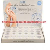 China Hand cream cardboard counter display paper rack stand printed countertop display on sale