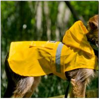 China Bullmastiff Nylon Seattle Slicker Dog Raincoat Yellow color for large dogs on sale
