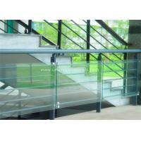 Decorative Glass Railing Laminated Safety Glass Grey CE / CSI Approve Manufactures
