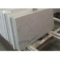 China Customized 10mm Carrara White Polished Marble Floor Tiles Heat Resistance wholesale