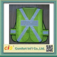 EN20471 / CE Standard LED Reflective Safety Vests , Orange Reflective Security Clohting Manufactures