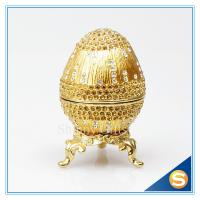 Crystal Faberge Egg Trinket Box Egg Jewelry Boxes Manufactures