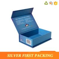 China Silver First custom high-top book shape box cardboard flip top box buy from China on sale