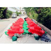 Red Inflatable Flower Chain with Giant Flowers for Wedding and Event Manufactures