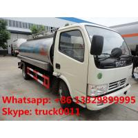 factory sale best price dongfeng 8,000L milk truck for sale, hot sale stainless steel food grade liquid tank truck Manufactures