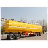 Fuel oil three axle tanker trailer 50000 liters Large capacity , fuel tank semi trailer Yellow color Manufactures