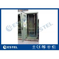 China 19 Inch Double Wall Green Outdoor Telecom Cabinet For Wireless Communication Base Station wholesale