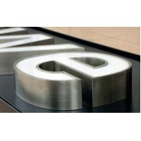 China stainless steel illuminated letter custom outdoor signs letter free design acrylic plastic letter on sale