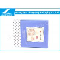CMYK Printing Cardboard Candy Gift Boxes Blue Paper Printing With Dot Design Manufactures