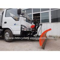 China Stainless steel structure snow sweeper with two engines and 300Lfuel tank on sale