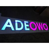 China Resin Alphabet Letters for Outdoor LED Illuminated Signs on sale