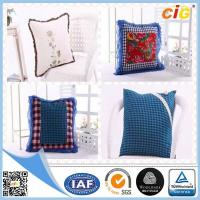 China Red / White / Blue Plain Modern Luxury Decorative Cushion Covers for Sofa , Car or Chairs wholesale