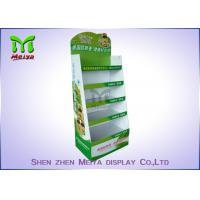 China Customized Cardboard Book Display Stand , Promotion Cardboard Display Shelf For Cd Marketing wholesale