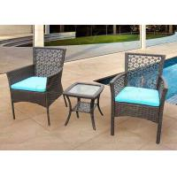 China Garden Patio Furniture 3-piece Rattan Outdoor Set wz Two Wicker Chairs on sale
