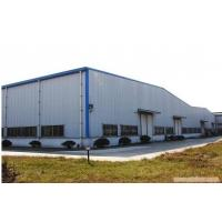 Double Span Prefabricated Steel Buildings / Light Weight Steel Frame Factory