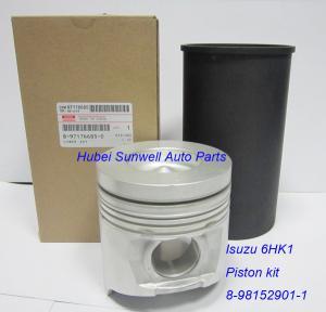 China Isuzu 6HK1 engine piston Hitachi ZW220 wheel loader engine piston kit 8981529011 on sale