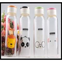 China Promotional Christmas Gift glass water bottle with any simple elegant logo and color on sale