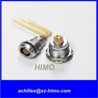 promotion model 90 degree PCB pin 2 pin lemo panel mount connector solder terminal Manufactures