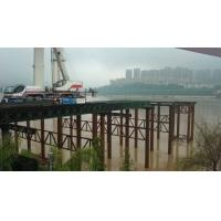 China Steel Truss Structure Temporary Construction Bridge With Recyclable Over Sea Platform wholesale