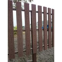 Natural Wooden WPC Decking / 100 % recyclable WPC Rail Fence For Farm Manufactures