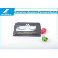 Transparent Black Eyelash Paper Packaging Box With Plastic Inner / Hot Stamping Logo Manufactures