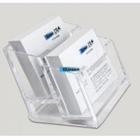 China SGS Acrylic Plastic Business Card Boxes / Business Card Case For Men on sale