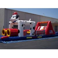 China 0.55mm PVC 12*4*3m Dog Inflatable Obstacle Course For Obstacle Sport Game wholesale