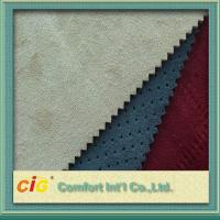Wear-resisting Faux Suede Fabric 100-160gsm , Microfiber Suede Fabric Manufactures