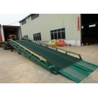 China 10 Ton - 15 Ton Portable Steel Loading Dock Ramps With Solid Tyres on sale