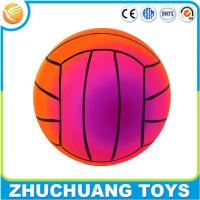 China custom pvc inflatable cheap price beach colorful volleyball toy on sale