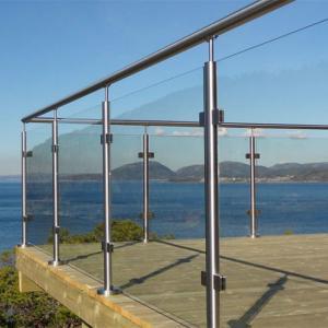 China Modern Design frameless Glass stainless steel Railing for balcony/ terrace/garden wholesale