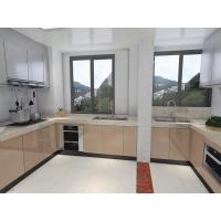 Quality Big House Size White Painting Kitchen Cabinet MFC Board Carcase For Villa for sale