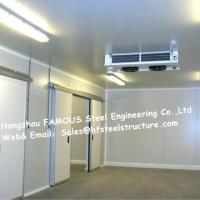 Commercial Walk In Fridge / Refrigerator Units Made Of Width 950mm Pu Sandwich Panel Manufactures