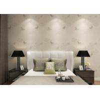 Rustic Floral Butterfly Wallpaper Home Decor Furnishings , Embossed Vinyl Wall Coverings Manufactures