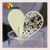 China Wedding Place Card For Wine Glass , Heart Place Cards For Weddings on sale